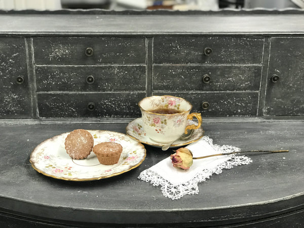 Early 20th century China tea trio.