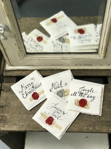 Bespoke hand-written greeting cards on handmade paper.
