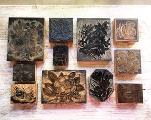 Early 20th century T.N Lawrence Printing Blocks.