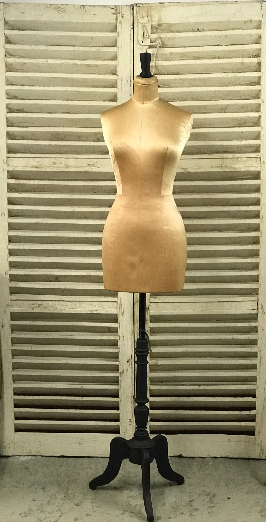 Original early 20th century Satin tailor's dummy, mannequin