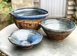 Set of 3 Handmade Hungarian bowls.