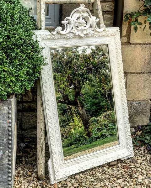 Late 19th century French crested mirror