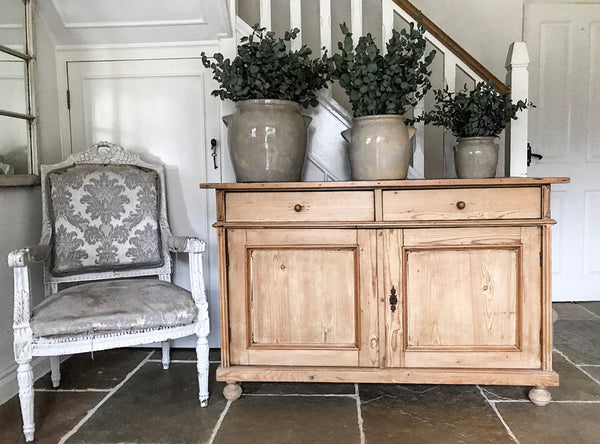 French 19th century pine buffet cupboard.