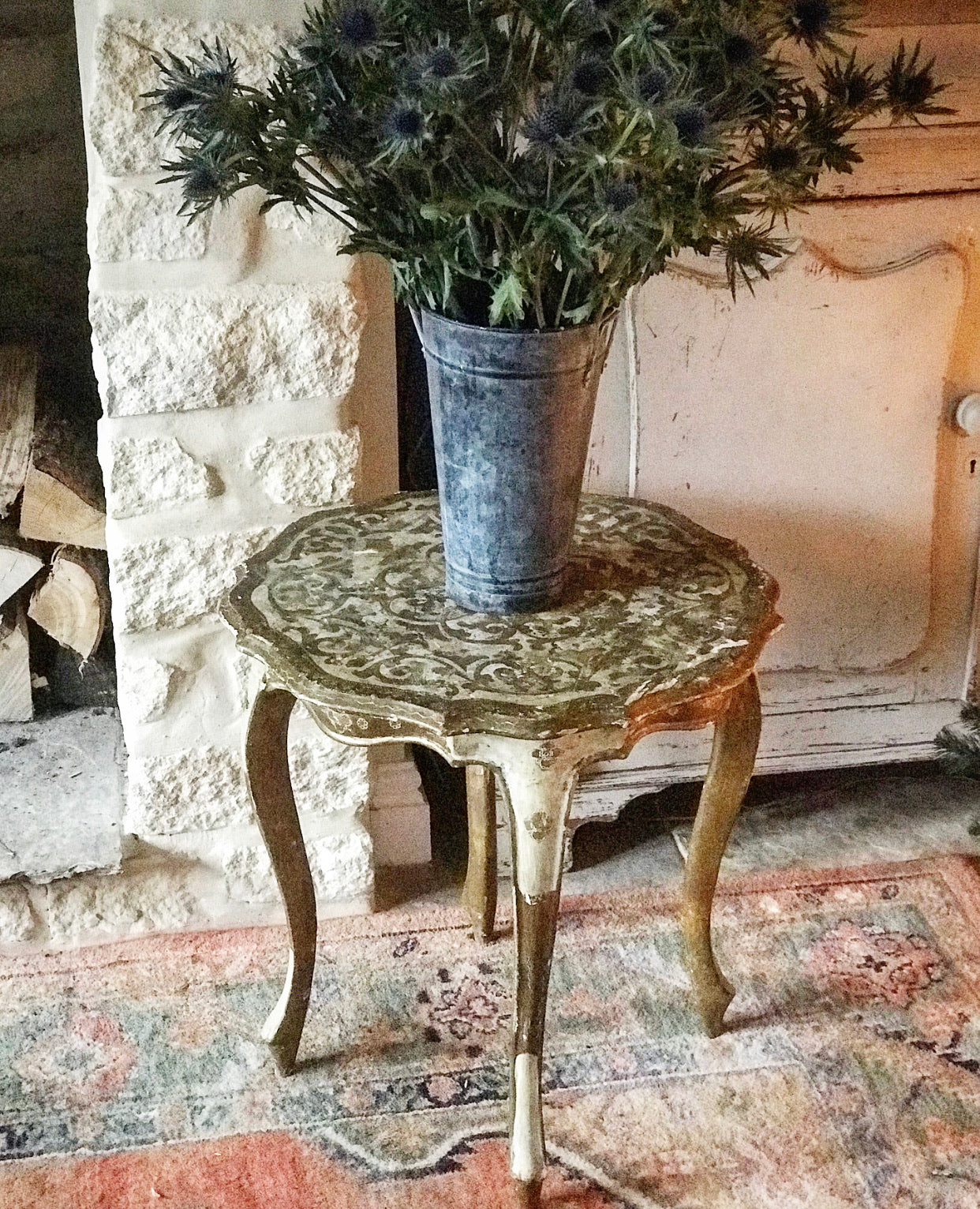 Early 20th century Italian Florentine Gilt-wood Occasional Table
