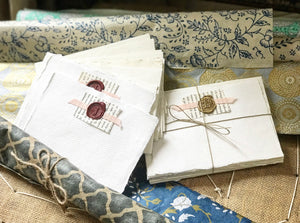 Monogrammed Stationery on Handmade Paper.