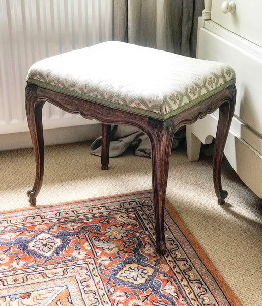 Early 20th century Upholstered French Stool