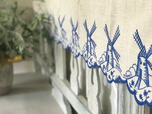 Vintage French Broderie Anglaise Trim with Windmills.
