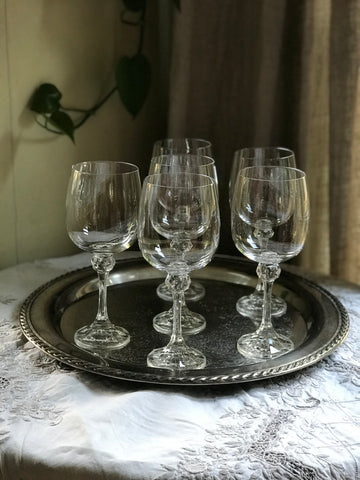 Early 20th century French Crystal Red Wine Glasses