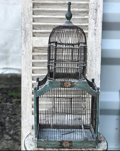 19th century French Wire Birdcage