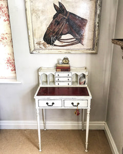 Original 19th century ladies Bonheur du jour writing desk.