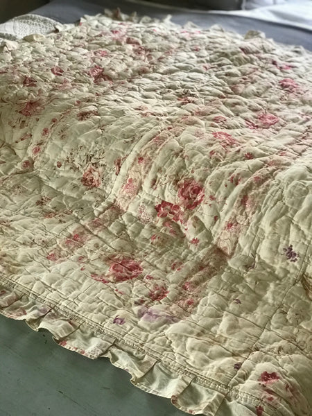 French 19th century Reversible Quilt