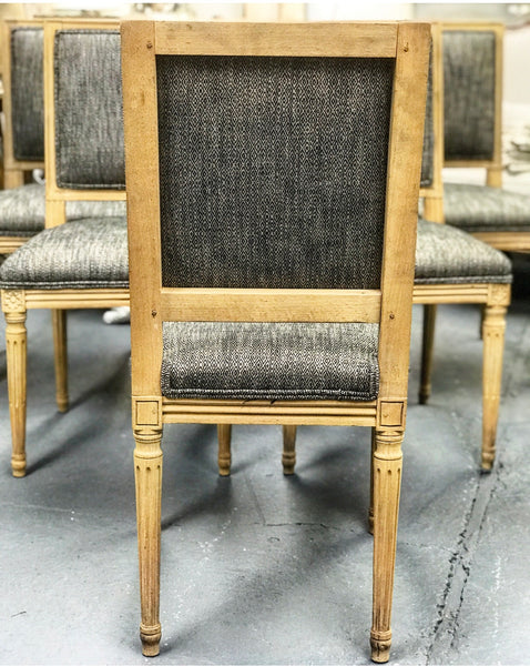 Set of Six late 19th century style French Dining Chairs.