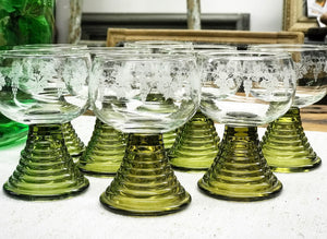 Vintage 1960's Wine Glasses.