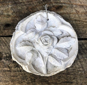 Old Plaster Cast Relief of Rose