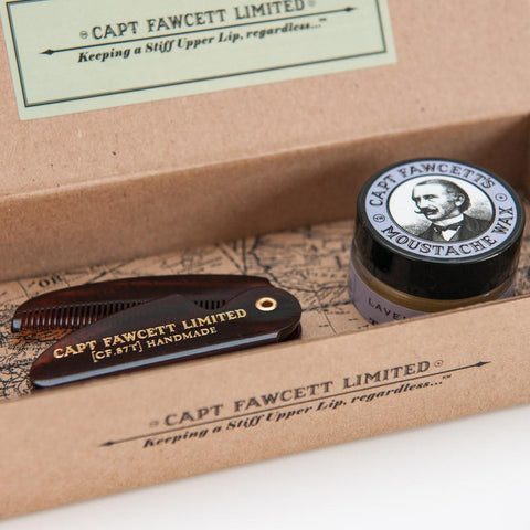 Expedition Mo Wax and Folding Moustache Comb