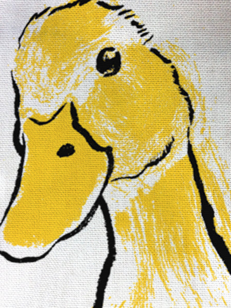 Yellow Duck illustration by Tiff Howick printed on to ethically sourced cotton tea towels 48 x 78 cm