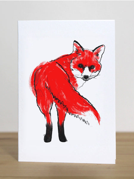Fox greeting card designed by Tiff Howick blank inside sustainably sourced card and envelope