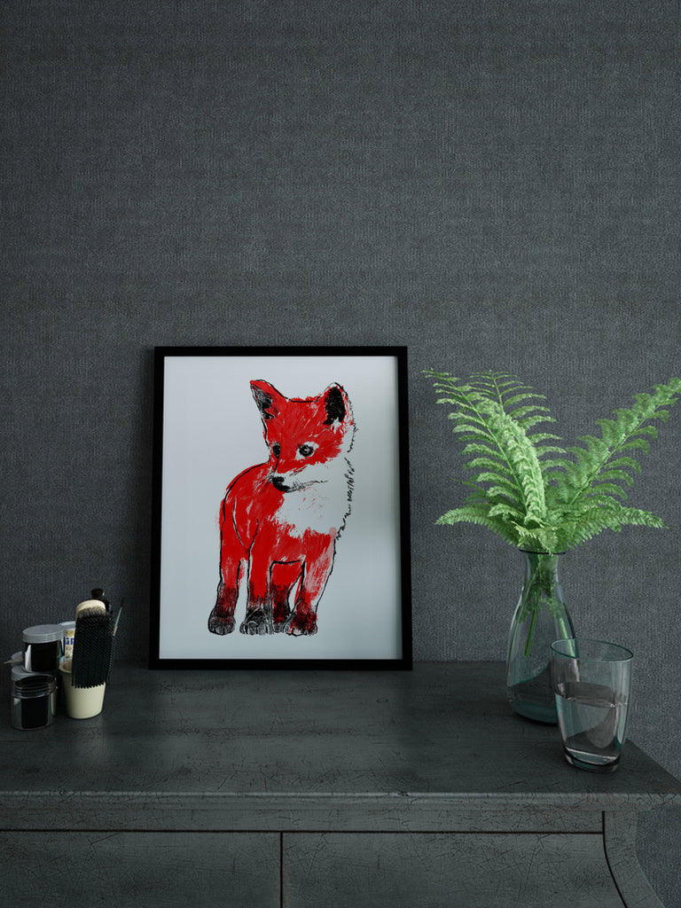 Fox Cub screenprint
