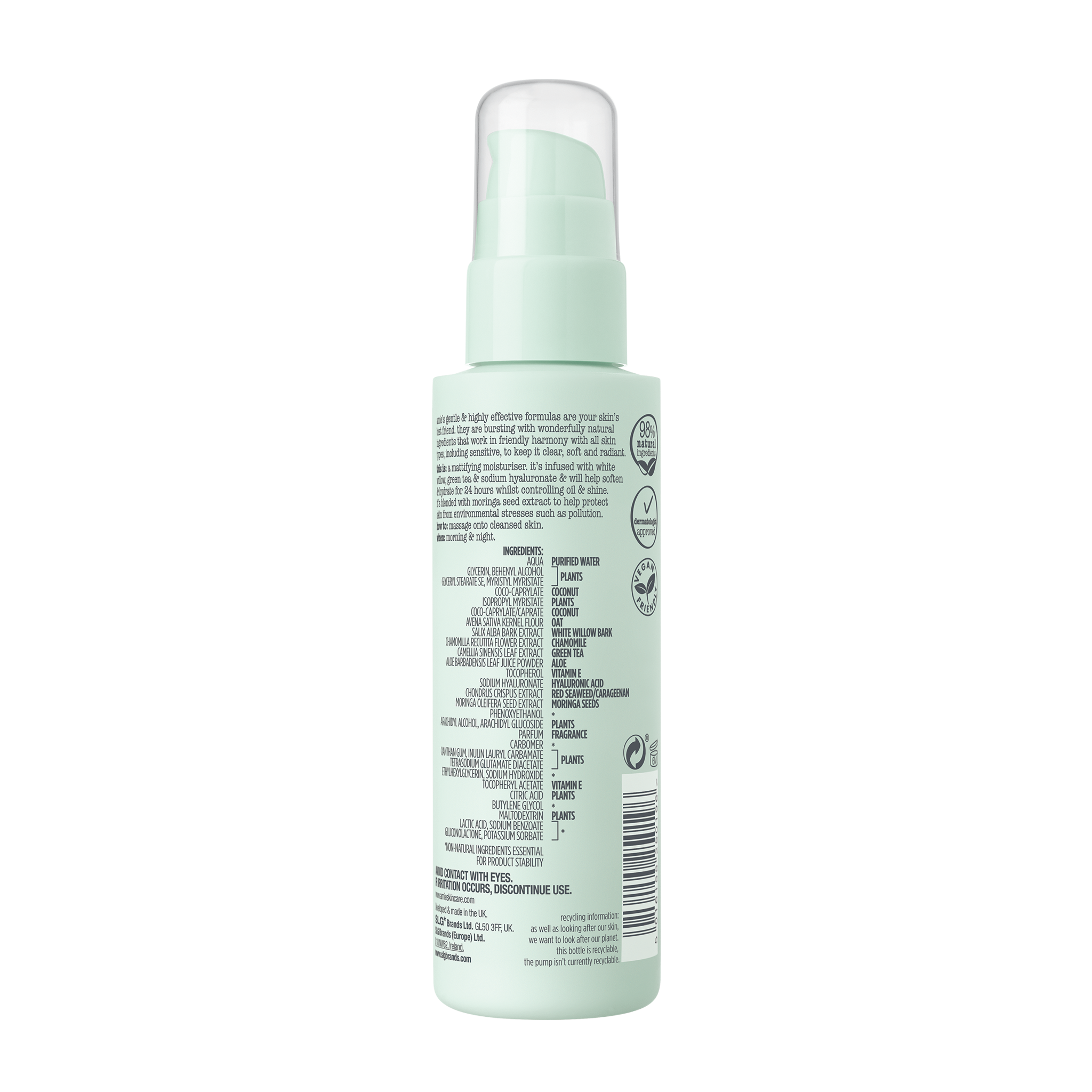clear + calm mattifying moisturiser 100ml