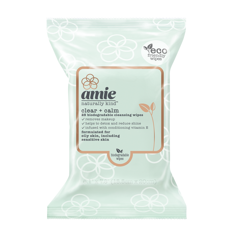 clear + calm biodegradable cleansing wipes