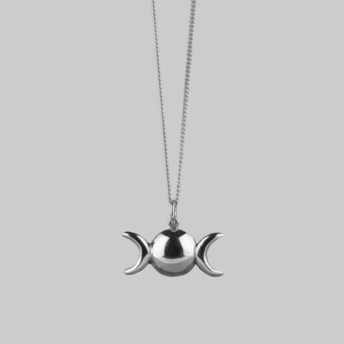 TRIPLE MOON | Silver Necklace