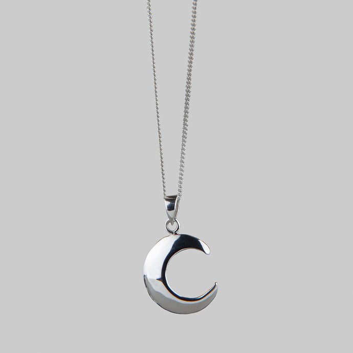 WANING MOON | Silver Moon Necklace