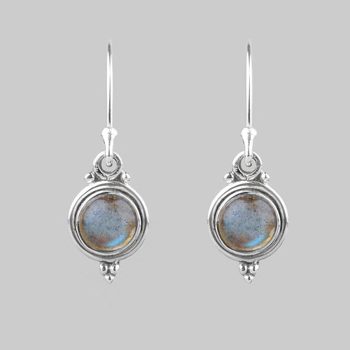 AUDRA | Gemstone Dropper Earrings