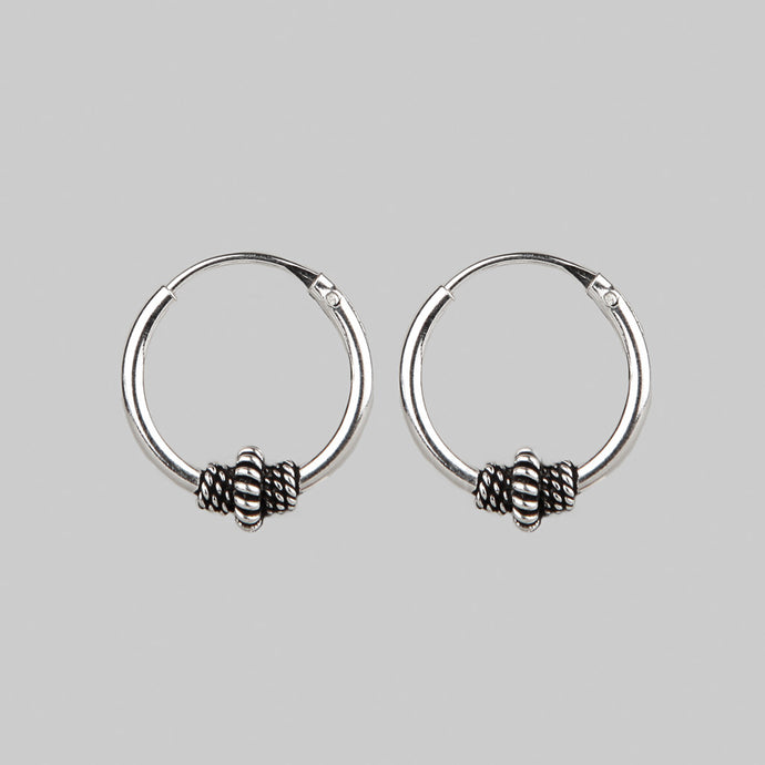 AVA |  Silver Detailed Hoops