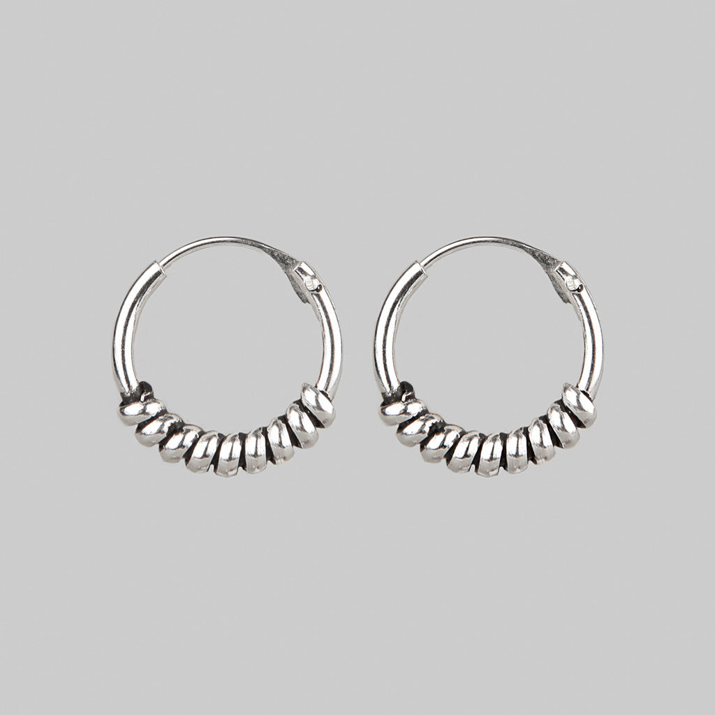 COIL | Silver Twisted Hoops