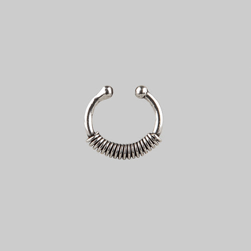 HELIX | Clip On Sterling Silver Septum Ring