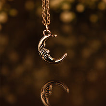 MAN IN THE MOON | Silver Plated Necklace