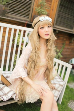 100 Cm Super Long Lolita Full Natural Wavy Heat Resistant Wig