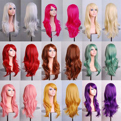70cm long curly 12colors Anime Cosplay wig