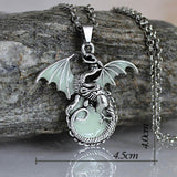 Game of Throne dragon Punk Luminous Dragon Pendants & Necklaces
