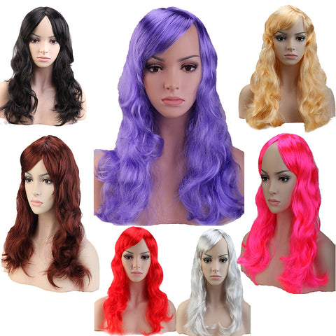 Long Curly Wavy Anime Party Cosplay Wig