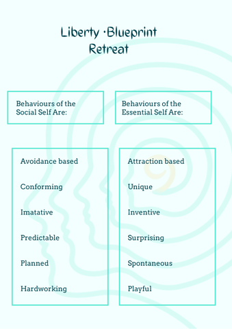 Behaviours of social and essential self