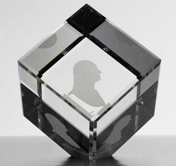 Washington Crystal Cube Paperweight