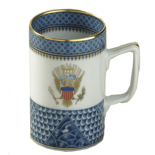 Indigo Wave Eagle Mug - MOTTAHEDEH & COMPANY, INC - The Shops at Mount Vernon