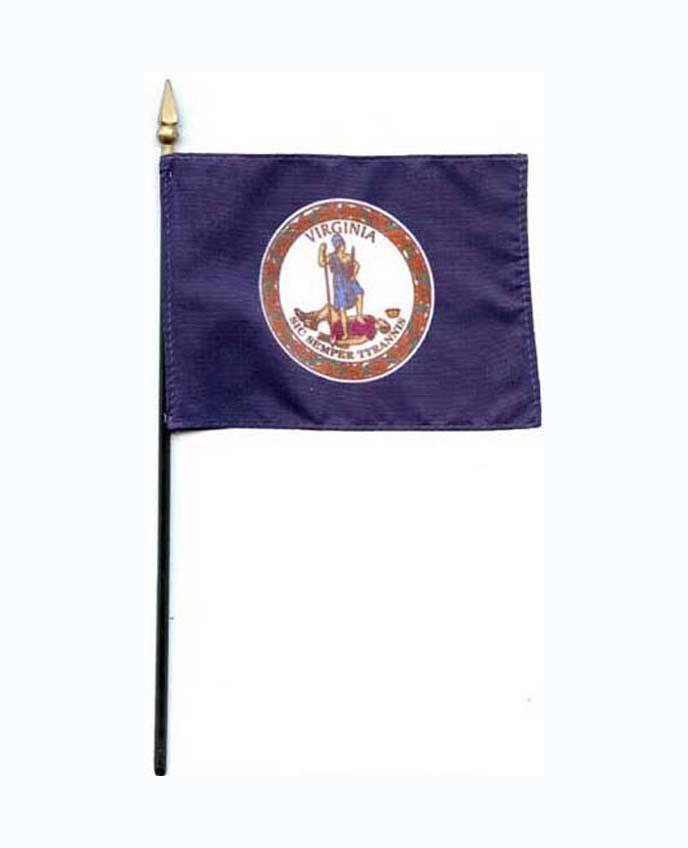 Virginia State Mini Flag