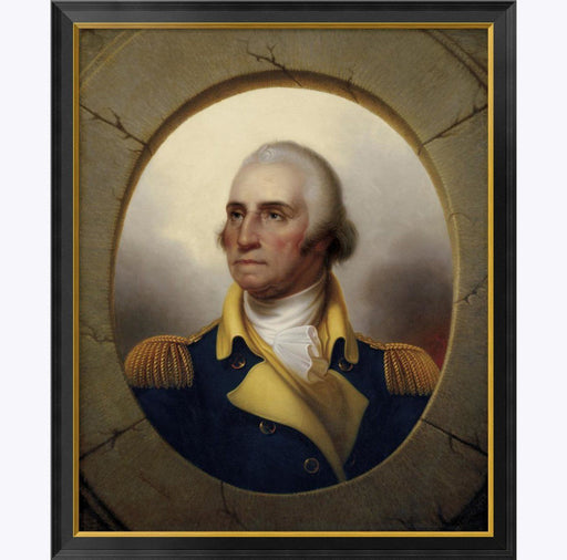 Washington Porthole Portrait: Large Print - BENTLEY GLOBAL ARTS GROUP - The Shops at Mount Vernon