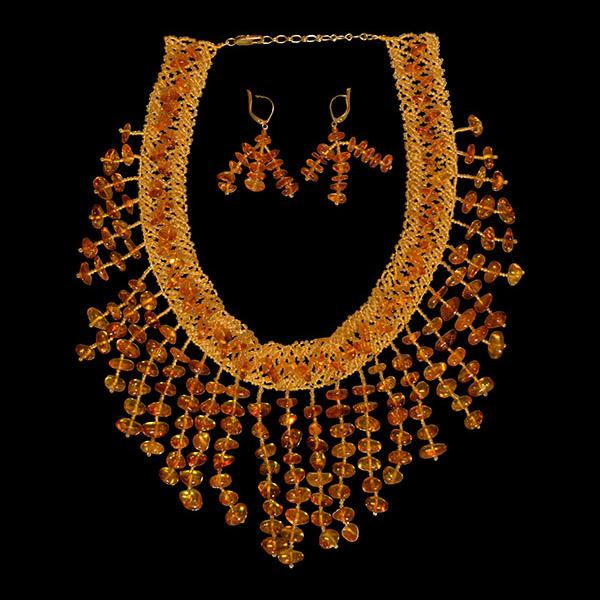 Waterfall Style Amber Necklace