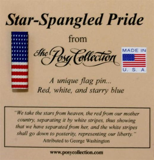 Star-Spangled Pride Pin - Posy Collection - The Shops at Mount Vernon
