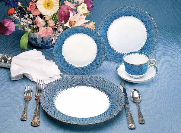 Blue Lace 5-piece Place Setting - MOTTAHEDEH & COMPANY, INC - The Shops at Mount Vernon