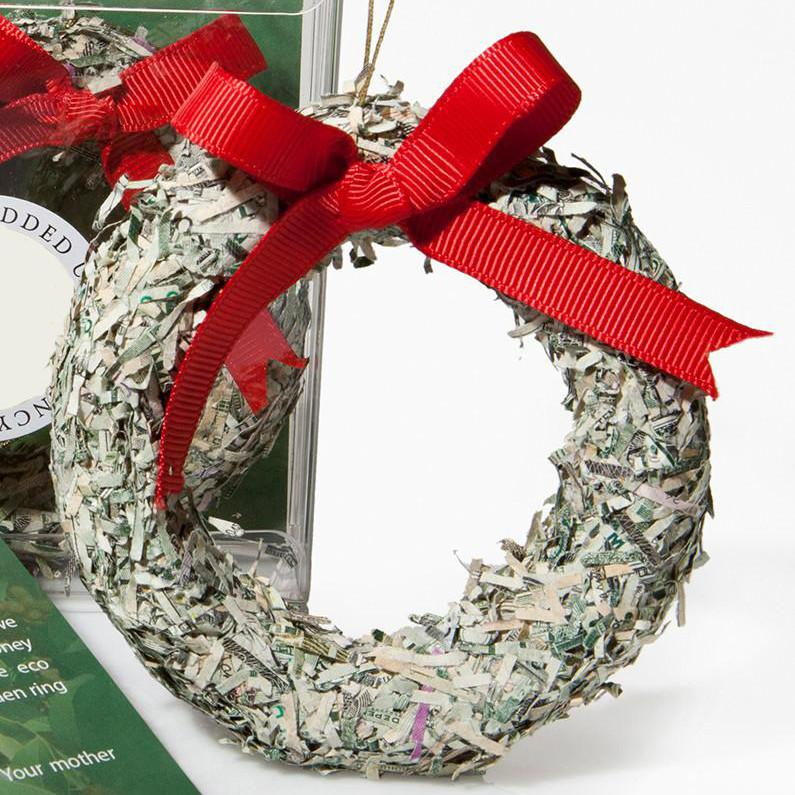 Mount Vernon Shredded Money Wreath