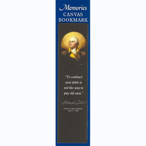 Washington's Porthole Portrait Canvas Bookmark - The Shops at Mount Vernon - The Shops at Mount Vernon