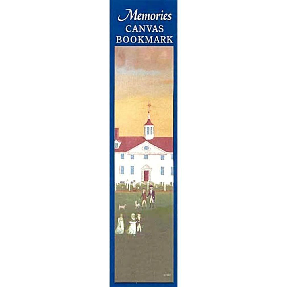 Mount Vernon 1792 West Front Canvas Bookmark - The Shops at Mount Vernon - The Shops at Mount Vernon