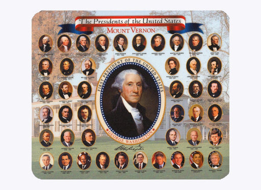 U.S. Presidents Mousepad - CHARLES PRODUCTS INC. - The Shops at Mount Vernon