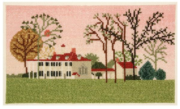 Mount Vernon East Front Counted Cross Stitch - The Shops at Mount Vernon - The Shops at Mount Vernon