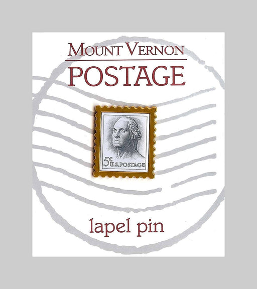 GW Postage Stamp Lapel Pin - The Shops at Mount Vernon - The Shops at Mount Vernon