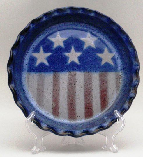 Stars & Stripes Stoneware Pie - The Shops at Mount Vernon - The Shops at Mount Vernon